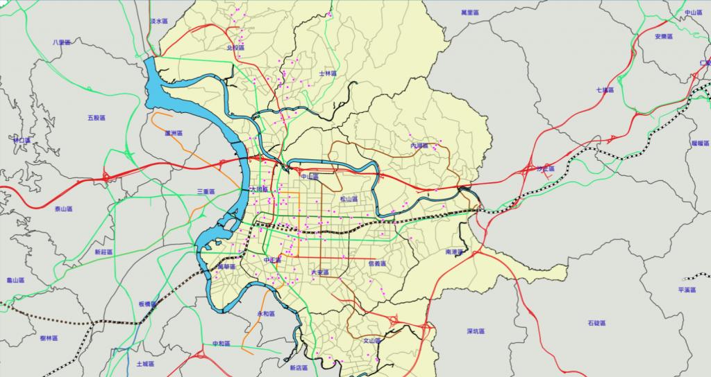 台北市通過危老分布圖